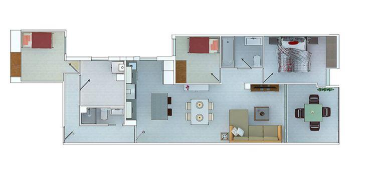 Hoy les mostraremos 5 planos de casas modernas junto con una…