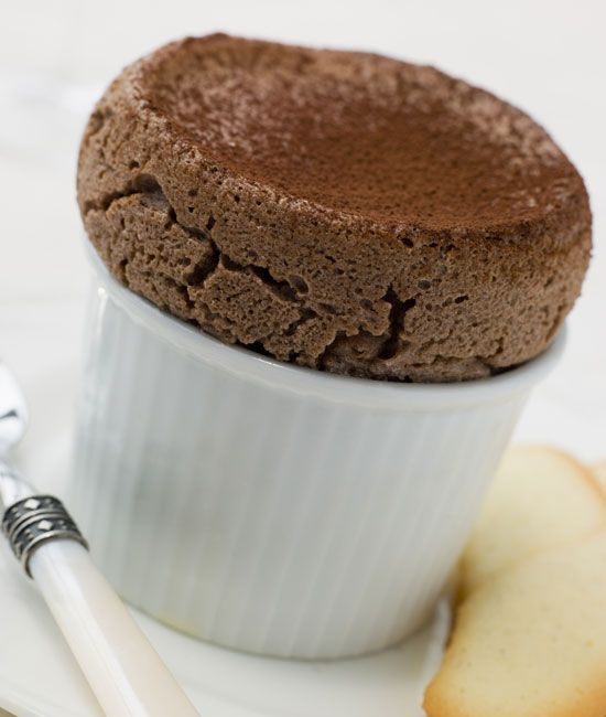 Try this Hot Chocolate Soufflé Recipe, a great new dessert idea with eggs and chocolate!data-pin-do=