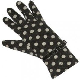Grey Spot Jersey Gloves