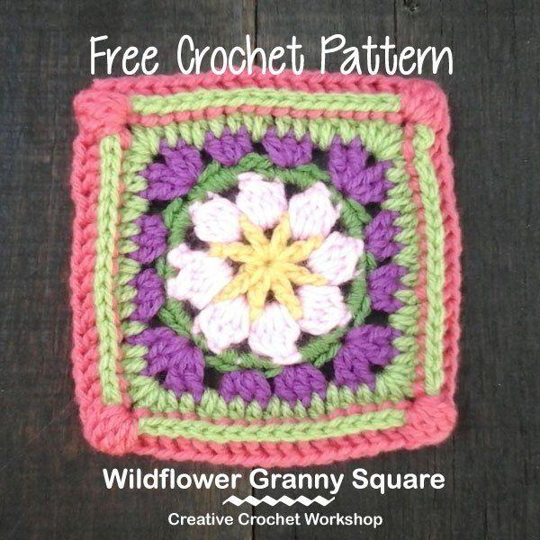 Wildflower GrannySquare  @creativecrochetworkshopt @americancrochet #grannysquare #freecrochetpattern