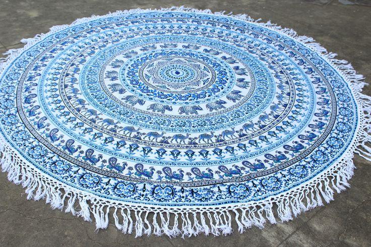 MANDALA Elephant Tapestries, Beach tapestry