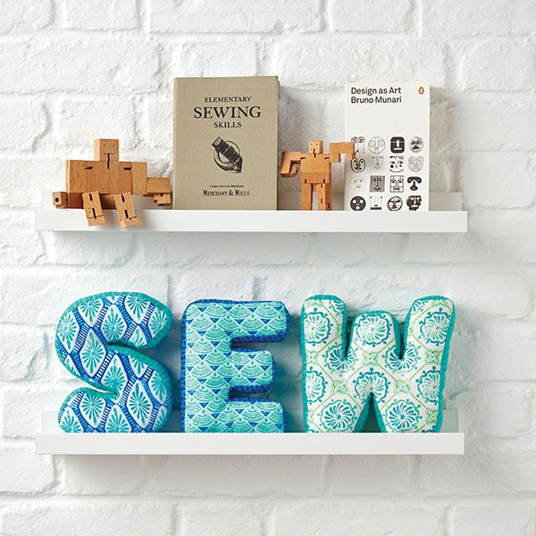 How to sew fabric letters tutorial. This idea could be applied to a variety of shapes - not just letters.