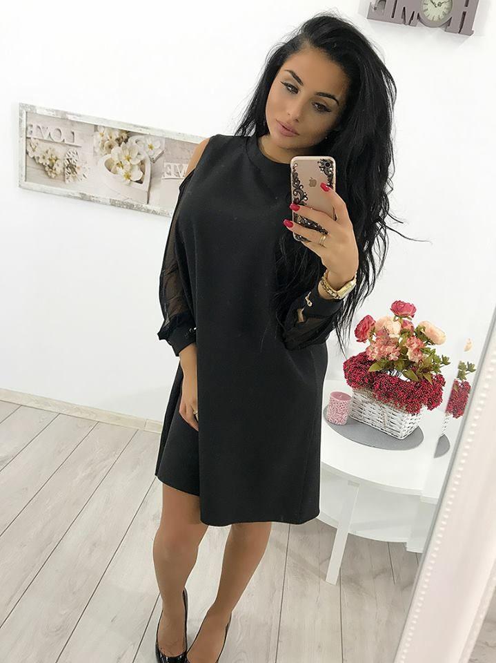 😍😍😍 Elegancka sukienka z szyfonowymi rękawami 😍😍😍 Link do produktu: http://bit.ly/2yFFRcN Stylistka Sara <3