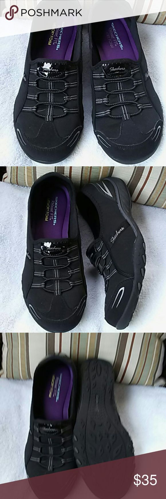 Black Skechers like new Just tried,not wear they didn't fit me. But very clean and comfortable. Skechers  Shoes Sneakers