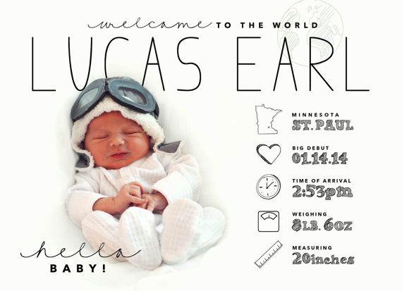 © pavot-dessins | Annonce de bébé de style infographie conçue sur mesure par poppyde …