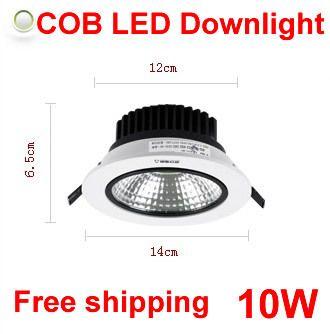COB led downlight 10W,spot led,LED lights for home,Bright integrated light source ceiling lamps,6500K/3500K $750.00