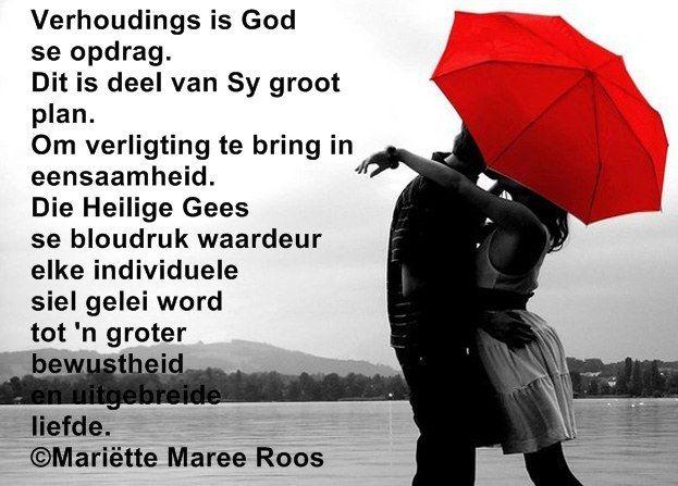 Verhoudings is God se opdrag.