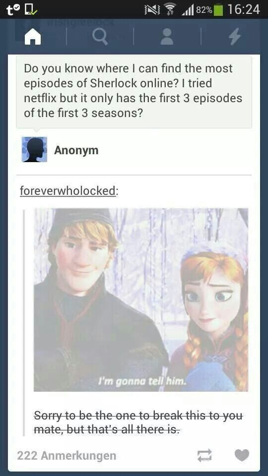 Great use of the Frozen gif here. lol