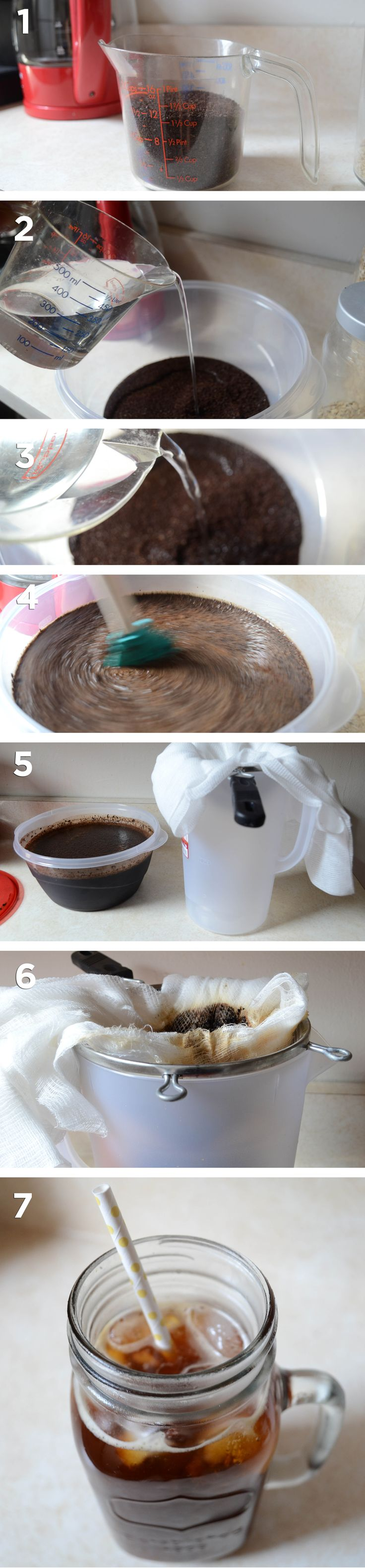 How to make cold brew coffee and save over $60 a month on iced coffee. Two different recipes to make small or large batches, with and without a french press.