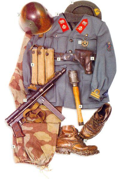 """Lieutenant, RSI """"Decima MAS"""", Italy, 1943-44"""