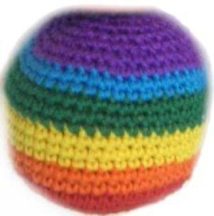 http://www.craftbits.com/project/hacky-sack-foot-bag  Hacky Sack crochet pattern