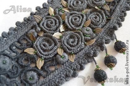 Вязаные вставки (реглан,пояс). Вязаные вставки исполнены в технике ирландского кружева,придадут одежде индивидуальность и неповторимость. Можно использовать для любой одежды,платья,джемпера,туники,пончо.