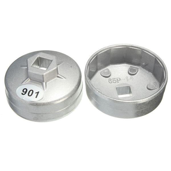 65mm 14 flauta herramienta removedor de socket llave de filtro de aceite tapa de aluminio para coche