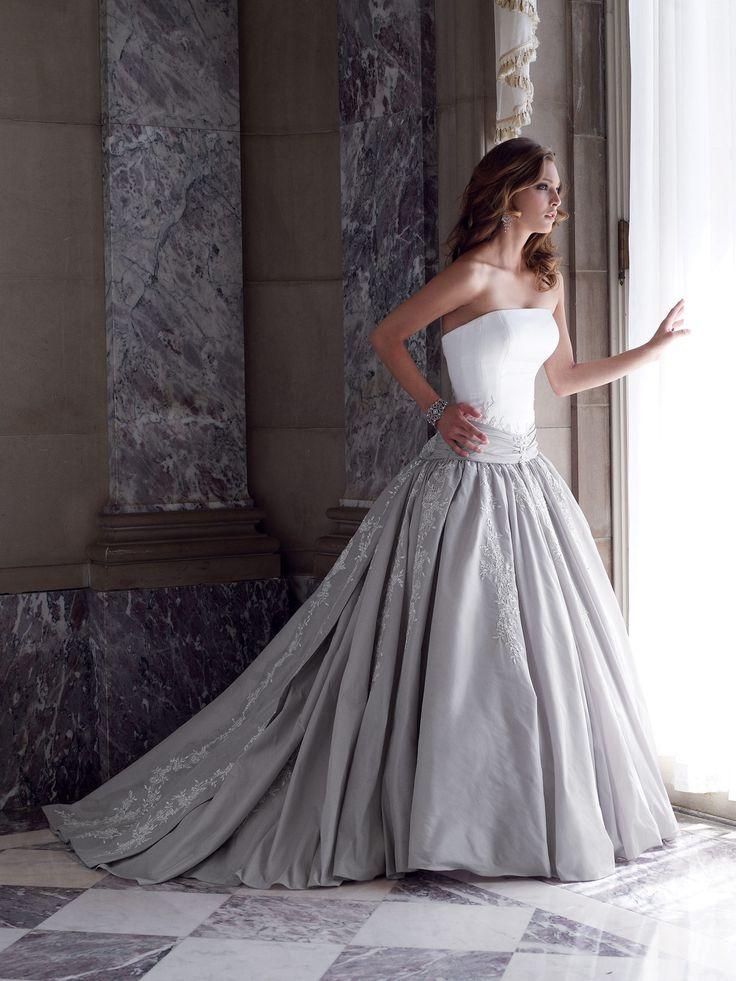 204 best Silver & Grey Wedding Dresses images on Pinterest
