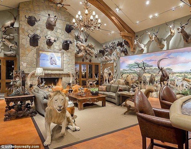 Itu0027s A Real Animal House! The $15million Texas Mansion Filled With Dozens  Of Stuffed Polar Bears, Crocodiles And Lions