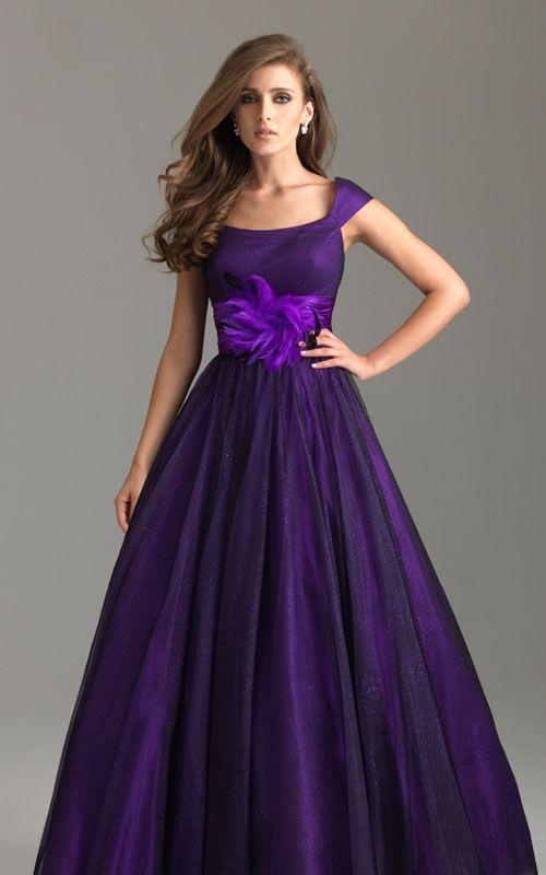 Night Moves 6579M Modest Dresses Dark Purple