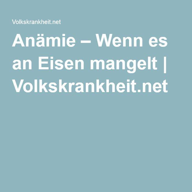 Anämie – Wenn es an Eisen mangelt | Volkskrankheit.net