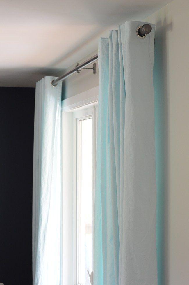 Ikea Merete Curtain Hack Curtains Diy Decor Projects Aqua Blue
