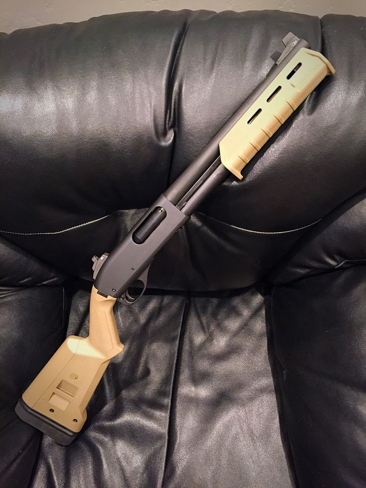 Short barreled shotgun. Great for home defense, the short barrel reduces power. Keeping the shot from traveling through walls and injuring unintended targets.