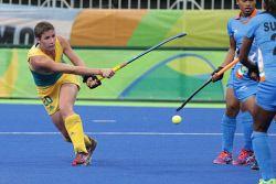 TWA-0050938 © WestPix 2016 Rio Olympics. Rio de Janeiro, Brazil. Hockeyroos vs India at ther Olympic Hockey Centre. Katherine Slattery Picture: Simon Santi The West Australian