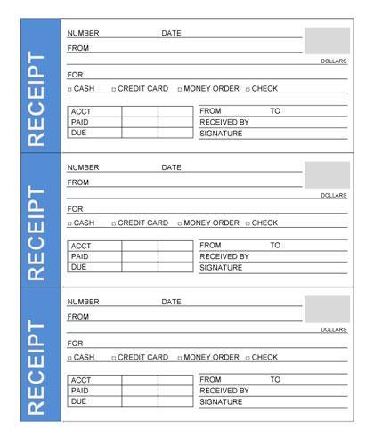rent receipt book template
