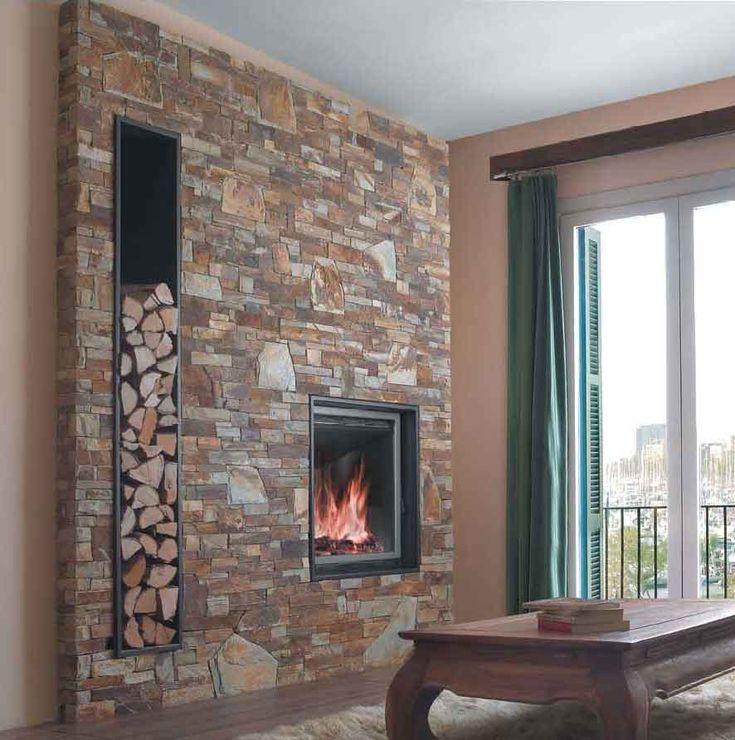 M s de 1000 ideas sobre chimenea estufa de le a en - Chimeneas de lena modernas ...
