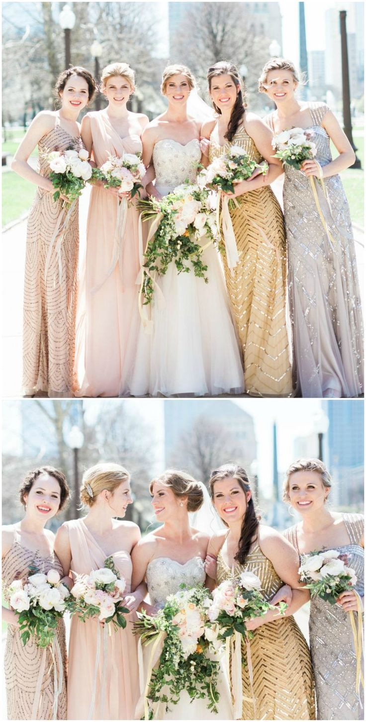 39 best art deco weddings images on pinterest art deco wedding shiny dresses sequins silver gold bridesmaids indy wedding cory ombrellifo Image collections