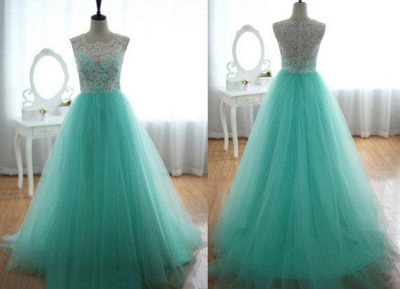 Simple Mint Quinceanera Dress