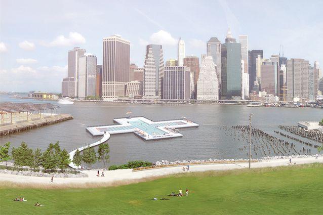 Plus Pool è la piscina che nel 2016 sorgerà in prossimità del Ponte di Brooklyn, al Pier 40, a NEW YORK. Questa piscina, oltre a galleggiare, ha la particolarità di depurare le acque dell'East River: pulirà ben 2 milioni di litri al giorno. A forma di una croce, è costruita da 4 piscine in modo da poter accogliere sportivi in corsie olimpioniche, nuotatori esperti, bambini