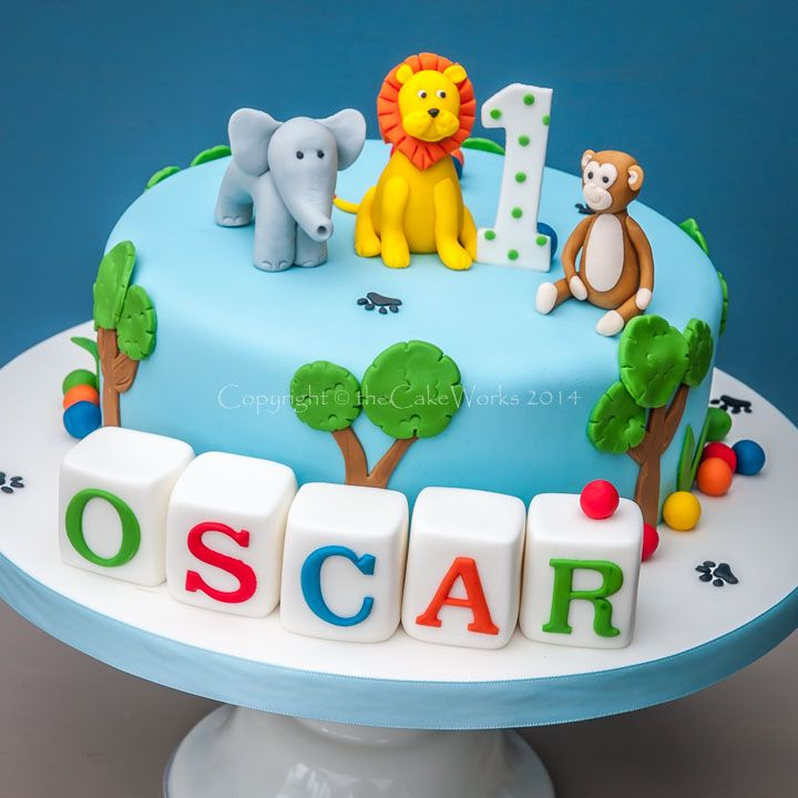first birthday cake boy one tier - Google Search
