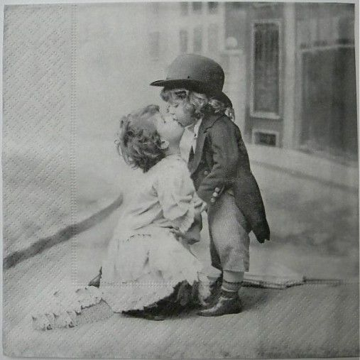 салфетка - поцелуй
