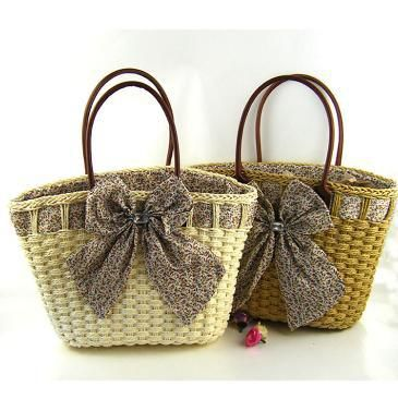 Free shipping  2014 new Beautiful diamond butterfly paper woven bag straw bag  women messenger bags