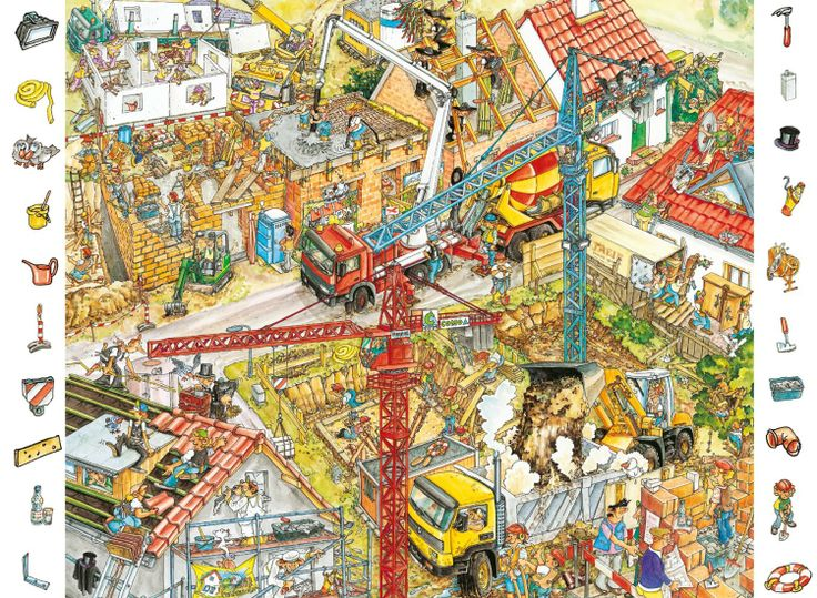 Construcción. Buscar objetos