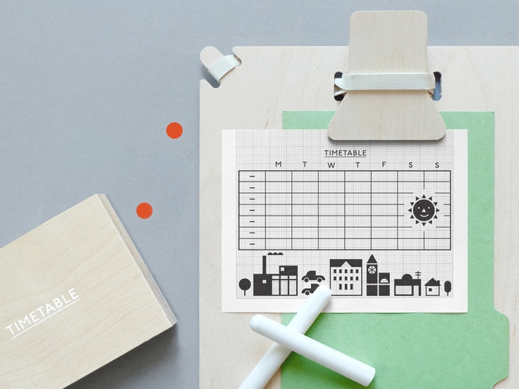 Timetable Rubber Stamp