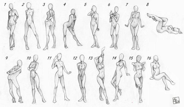 Female poses chart by Aomori.deviantart.com on @DeviantArt