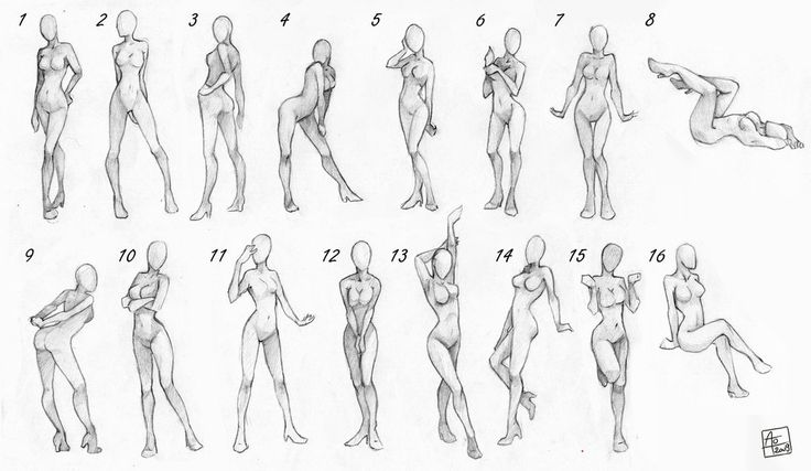 Female poses chart. Perfect! LOVE some of these poses! :0