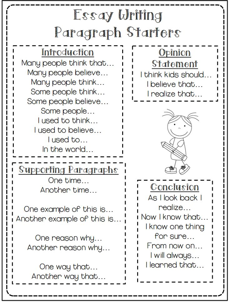 third grade doodles help for struggling writers and a giveaway sentence starters - Examples Of Essay Conclusion Paragraphs