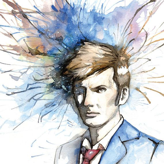 The Tenth Doctor   11x14 Print  David Tennant from by CodyVrosh, $12.00: The Tenth Doctor, 11X14 Illustration, Doctorwho, Art Prints, 10Th Doctors, Dr. Who, 11X14 Prints, David Tennant, Tenth Doctors