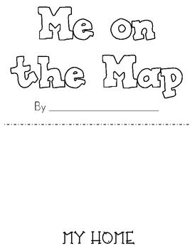 "Use this template for students to create a Me on the Map book. Can also be used in conjunction with reading the story Me on the Map.  On the blank lines students write sentences about their street, city, state, country, continent, and planet.  For example, on the page that says ""My city is in my state,"" students will write on the line, ""I live in the state of California.""City is made for San Diego, but page can be replaced as needed."