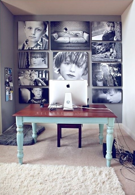 Love the wall art ♥would make good for my studio office