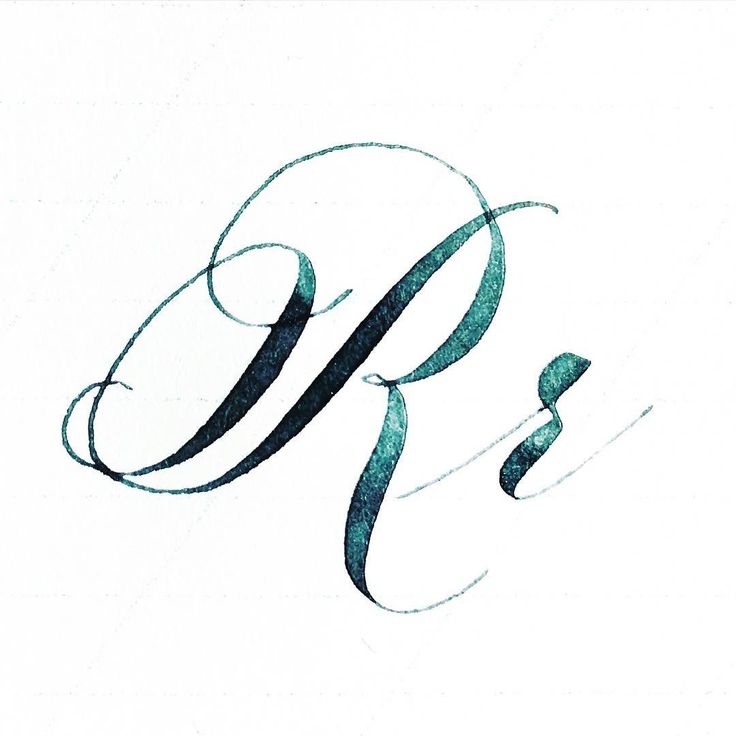 Best calligraphy the letter r images on pinterest hand lettering and