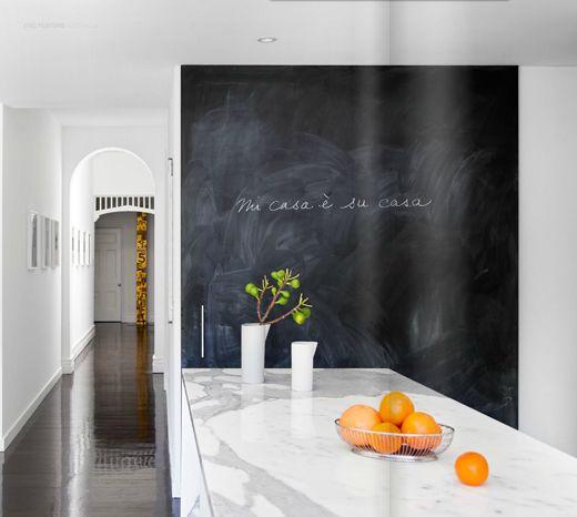 chalk board wall.