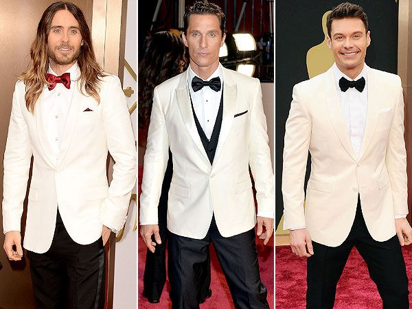 Oscars Male Trend: White Blazers Reign on the Red Carpet http://stylenews.people.com/style/2014/03/02/oscars-2014-jared-leto-matthew-mcconaughey-ryan-seacrest-white-jackets/