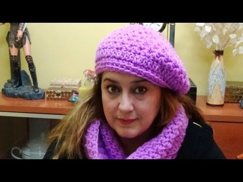 BOINA A CROCHET  a juego con la Bufanda Infinita. Link download: http://www.getlinkyoutube.com/watch?v=DDJiCOj6RW8