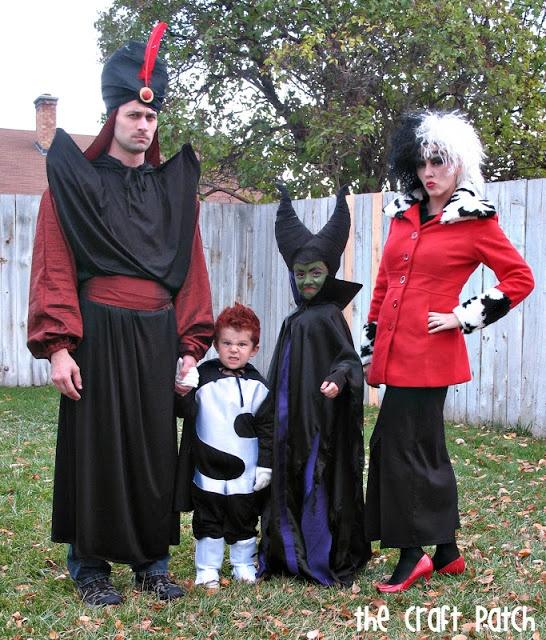 Family Halloween Costumes: Disney Villains