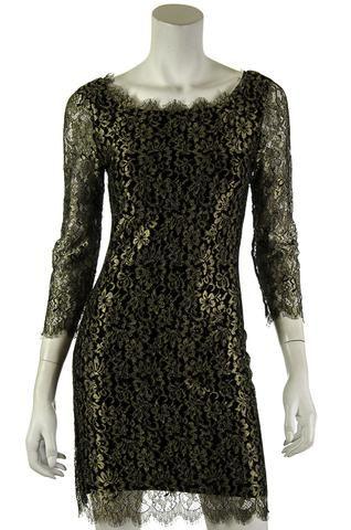 Diane von Furstenberg lace dress   OWN THE COUTURE   Canada's luxury designer consignment online boutique