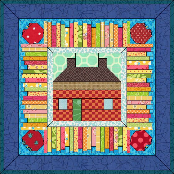 Free Back to School Quilt - Available for EQ7, EQ6 and EQ5!    See instructions here http://doyoueq.com/project_download_categories/using-qdw-files-in-eq6-and-eq7/                           By Heidi Kory for The Electric Quilt Company