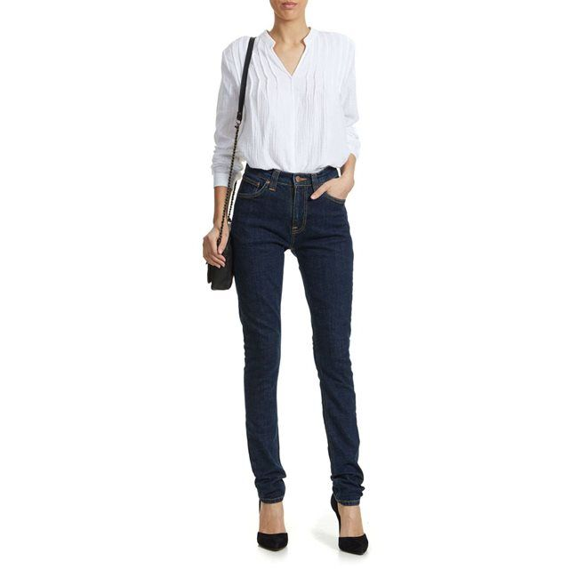 Jeans Nudie Jeans Pipe Led Skinny Bleu Fonce Femme NUDIE JEANS - Taille 34 - 114,35€