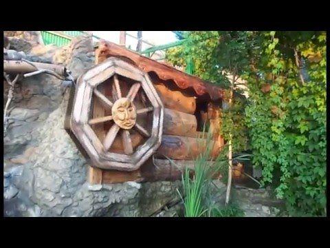 Декоративное колесо фонтан своими руками