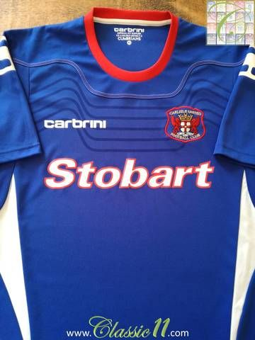 Official Carbrini Carlisle United home football shirt from the 2011/12 season.